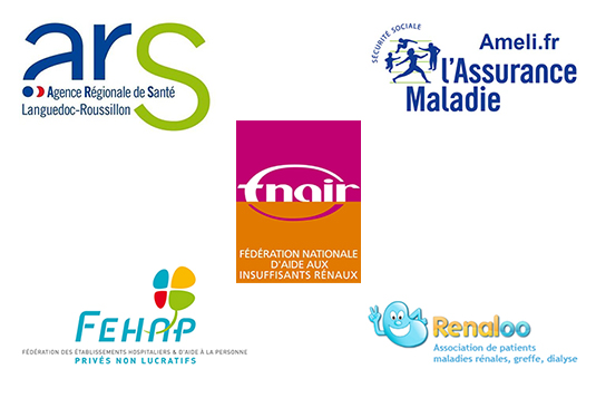 Composition des logos des partenaires Aider Santé 2